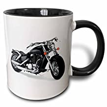 3dRose 3dRose Mug Picturing Harley-Davidson® Motorcycle (mug_4488_4), , Black/White