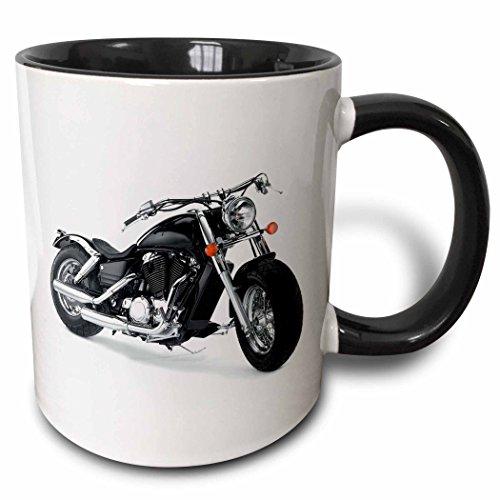 Christmas Motorcycle - 3dRose 3dRose Mug Picturing Harley-Davidson174; Motorcycle (mug_4488_4), Black/White