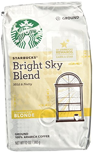 Starbucks Sharp-witted Sky Blend Light Blonde Roast Ground Coffee, 12-Ounce Bag