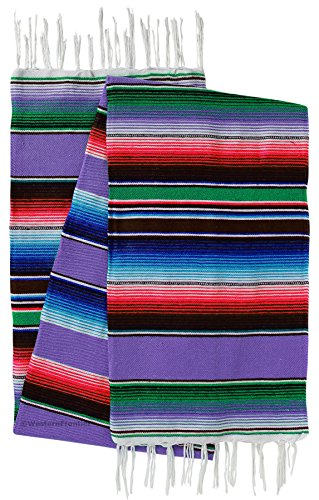 a Large Mexican Saltillo Serape Blankets (Lavender) (Woven Photo Throw)