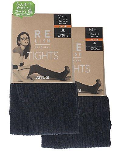 ATSUGI 아츠기 타이츠 RELISH ORIGINAL (《레리슈》 오리지날) 면혼 다이아 무늬 타이츠 400데니아 상당 〈2켤레조〉