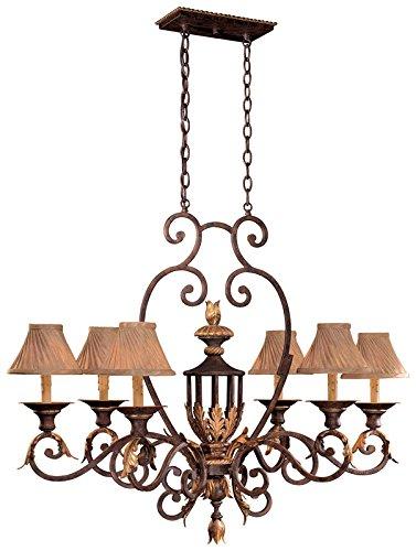 - Metropolitan N6234-355, Zaragoza Candle 1 Tier Chandelier Lighting, 6 Light, 360 Total Watts, Bronze