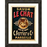 Framed Art Print 'Savon Le Chat'