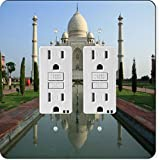 Rikki Knight 44 Gfidouble Taj Mahal, Agra, India Design Light Switch Plate