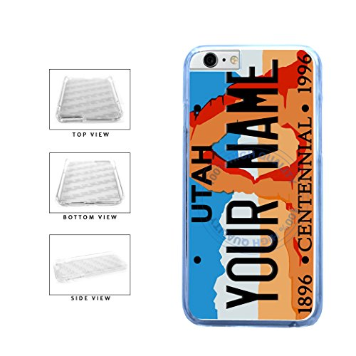 BleuReign(TM) Personalized Custom Name Utah State License Plate Clear Sides Plastic Phone Case Back Cover For Apple iPhone 6 6s (4.7 Inches Screen) (Bleu Reign Inc Iphone 6)