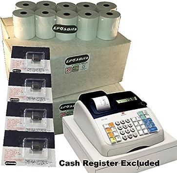 EPOSBITS® Brand 80 Rollos + 4X Tinta para Olivetti ECR7100 ECR 7100 Cash Register: Amazon.es: Oficina y papelería