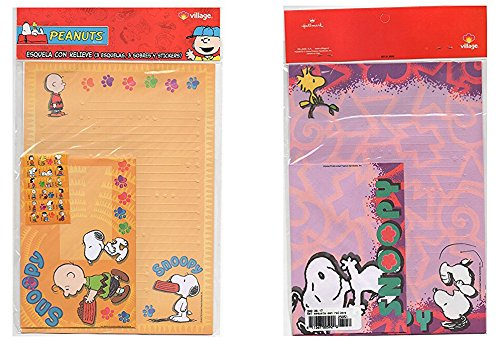- LOT 2 pcs Snoopy Set of Letter and Envelope and Stickers Scrapbooking