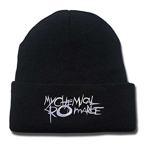 My Chemical Romance MCRMY Punk Band Logo Beanie Fashion Unisex Embroidery Beanies Skullies Knitted Hats Skull - Logo Bands Ray