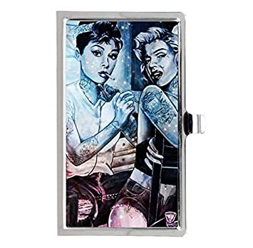 Audrey Hepburn And Marilyn Monroe Tattoo Custom Excellent design style Business Card Holder Card Aluminum Case: Amazon.es: Electrónica