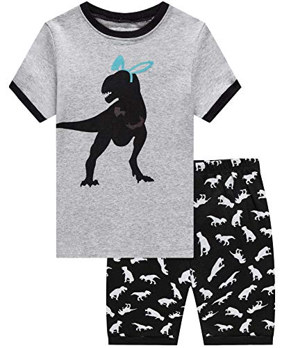 Dolphin&Fish Boys Pajamas 100% Cotton Easter Dinosaur Summer Short Set Toddler Clothes Kids Pjs Sleepwear 3t -