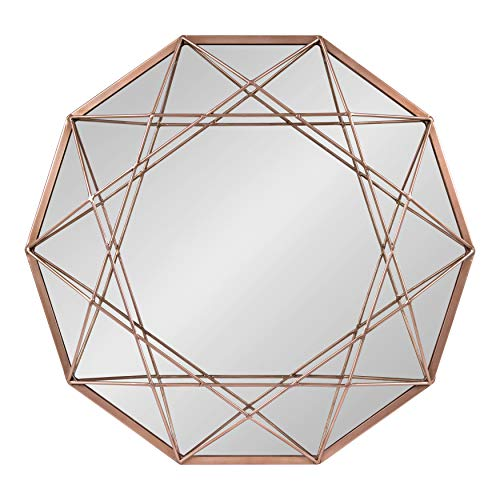 Kate and Laurel Keyleigh Geometric Shaped Metal Accent Wall Mirror