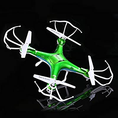 QCopter Drone Quadcopter Drones with Camera LED Lights Green Mini Drone *BONUS BATTERY 2X FlightTime