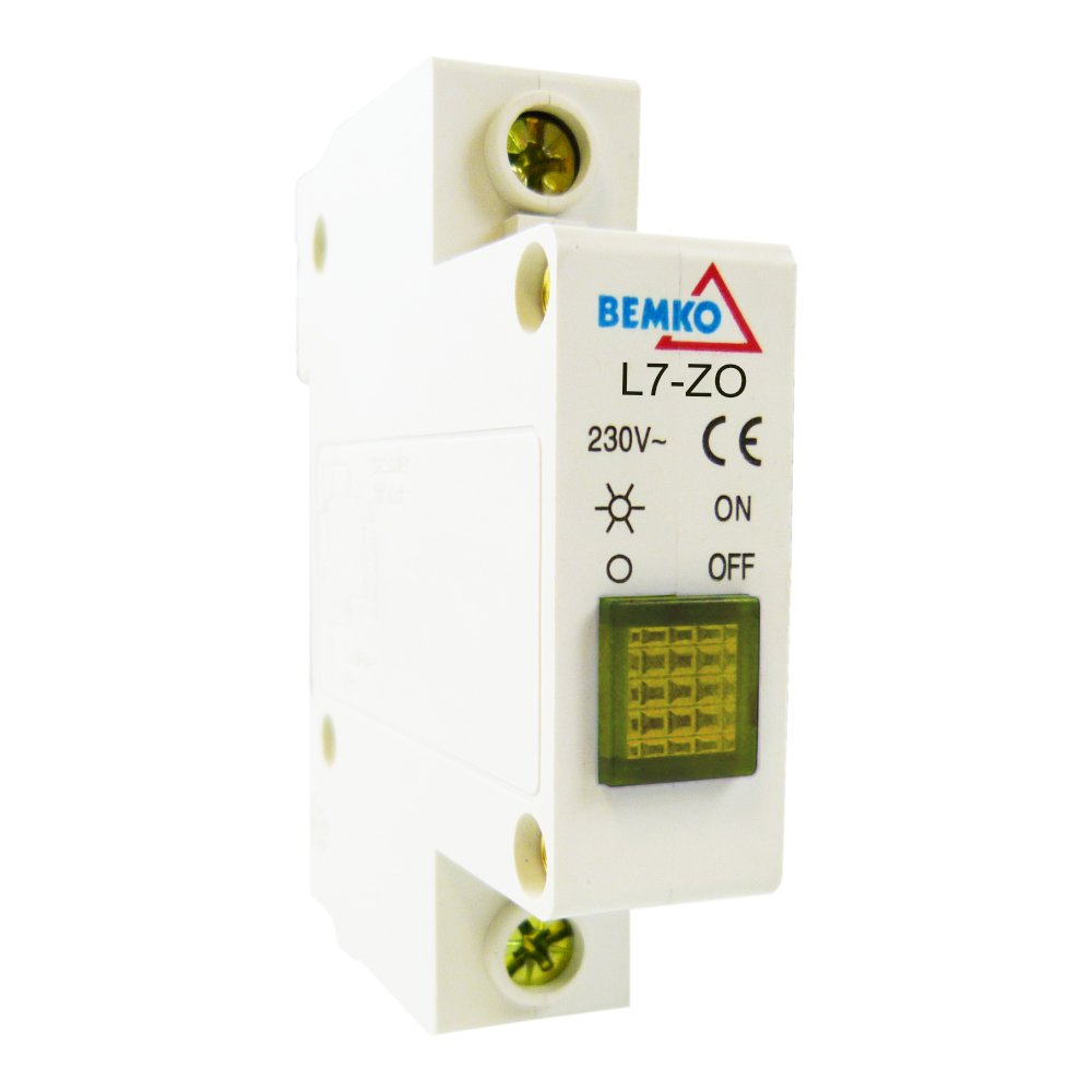 bemko Jaune Lumineux Dé tecteur phasenkontrolle signalleuchte 115– 250 V AC