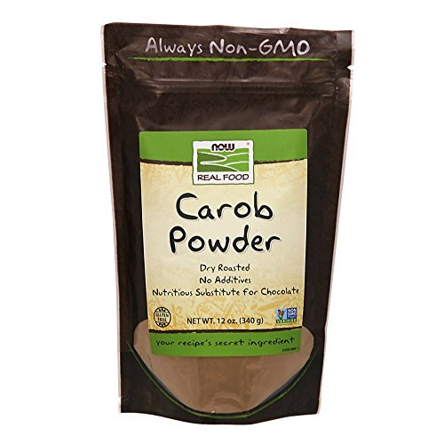 Oz 12 Carob Powder (NOW Foods Pure Carob Powder Dry Roasted,  12-Ounce  (Pack of 5))