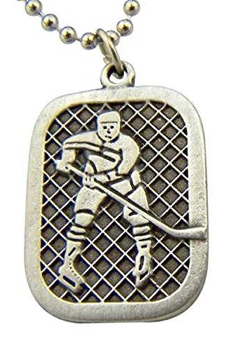 Pewter Saint Christopher Youth Ice Hockey Sports Athlete Medal Pendant, 1 Inch