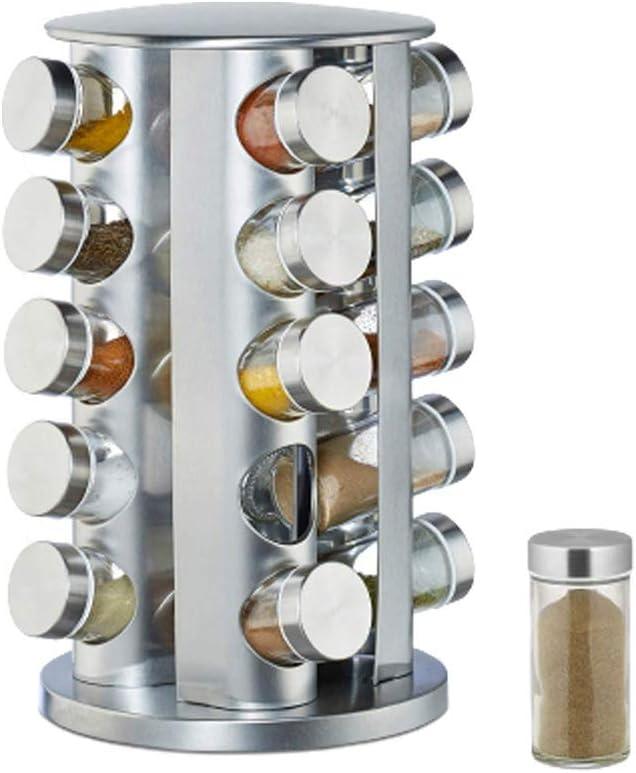 NATURAL LOGISTICS Especiero Giratorio para Cocina con 20 frascos Kottao.