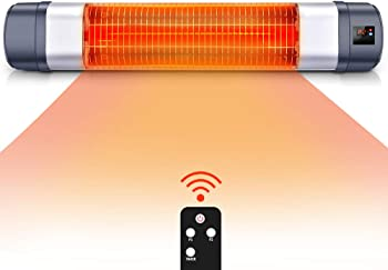 TRUSTECH 1500W Infrared Red Tube Patio Heater With Remote