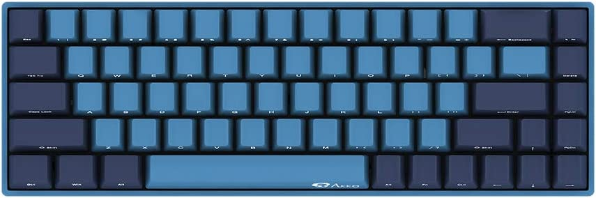 Akko 3068 Wired Mechanical Gaming Keyboard Cherry MX Switch PBT Keycap (Cherry MX Blue) Ocean Star