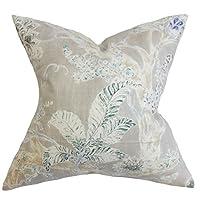 "The Pillow Collection QUEEN-D-42356-ROYAL-L55R45 Royal Blue Satriya Floral Bedding Sham, Queen/20"" x 30"""
