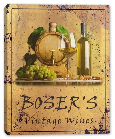 bosers-family-name-vintage-wines-stretched-canvas-print-16-x-20