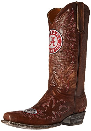 GAMEDAY BOOTS NCAA Alabama Crimson Tide Men's, Brass, 10 D (M) US