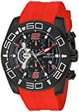 Invicta Men's 'Pro Diver' Quartz Stainless Steel and Silicone Casual Watch, Color:Red (Model: 22810)