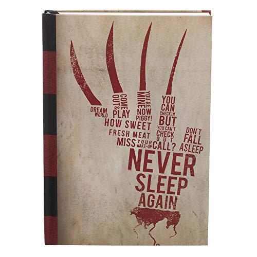 A Nightmare On Elm Street Never Sleep Again Hardcover Journal Book