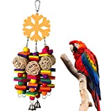 chicken block plush toy - lriumpexplo Small Pet Chew Toy, Pet Chewing Wood Blocks Rattan Ball Play Toy Parrot Bird Climbing Cage Hangings - Random Color