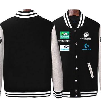 RNGDJSBP Sudadera Ig Uniforme de Equipo Estudiante Masculino Plus Camisa con Uniforme de béisbol de Terciopelo LOL Wei Ropa Lpl2018 Chaqueta de Marea, ...