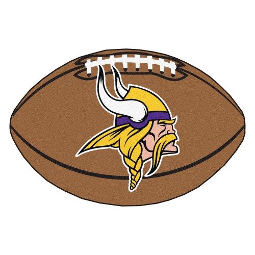 Fanmats NFL Minnesota Vikings Nylon Face Football (College Football Rugs)