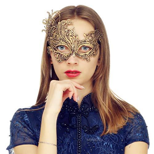 MYMENU Masquerade Mask for Women Vintage Luxury Mask Women