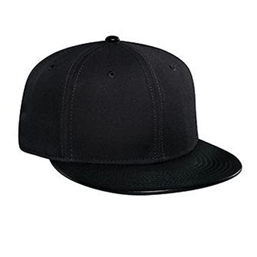 1600714d50b204 Image Unavailable. Image not available for. Color: OTTO Wool Blend Leather  Flat Visor Pro Style Snapback Caps