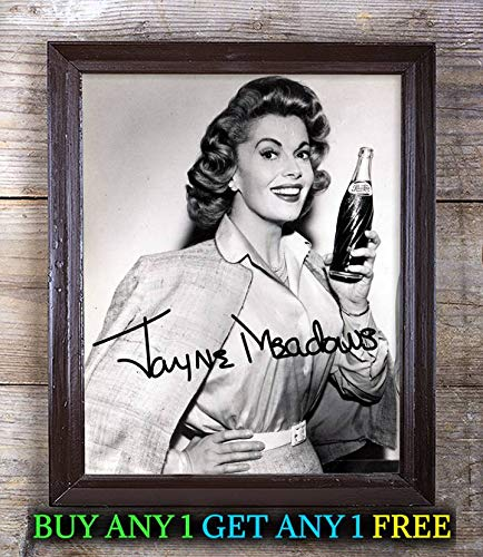 Jayne Meadows I've Got A Secret Autographed Signed 8x10 Photo Reprint #03 Special Unique Gifts Ideas Him Her Best Friends Birthday Christmas Xmas Valentines Anniversary Fathers Mothers Day