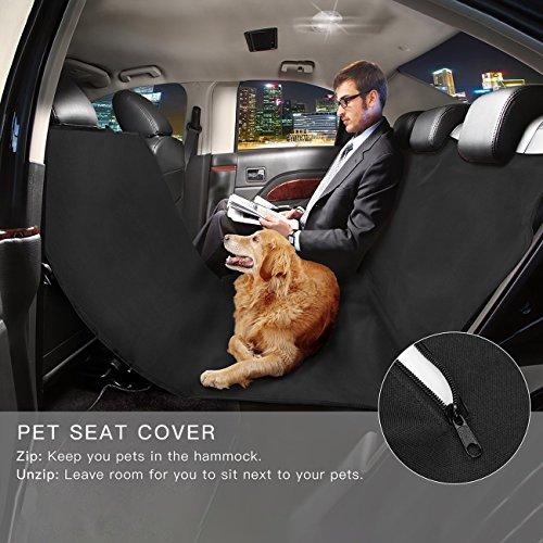 MuMu New Life Pet Car Seat Cover Dog Car Mats Waterproof Protector Pad Durable Washable Pet Seat Covers Pockets Cars Trucks SUV