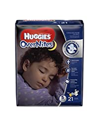 HUGGIES OverNites Diapers, Size 5, 21 ct., Overnight Diapers (Packaging May Vary) BOBEBE Online Baby Store From New York to Miami and Los Angeles