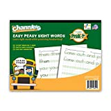 "Channie's Easy Peasy 100 Sight Words Workbook, Practice Printing, Tracing, and Handwriting, 80 Pages Front & Back, 40 Sheets, Grades Pre-K - 1st, Size 8.5"" x 11"""