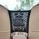 Universal Car Mesh Organizer, Car Seat Storage Mesh/Organizer ,Back Seat Pet Kids Barrier with Storage Net for Disturb Stopper