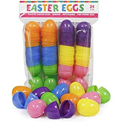 Plastic Easter Eggs, 24-Pack