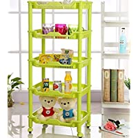 Latiq Mart 5 Layer Fruit and Vegetable Kitchen Rack Vertical Space Saving Corner Standing Storage Rack For Kitchen, Bathroom, Bakery, Office Use, Industrial Use - Assorted