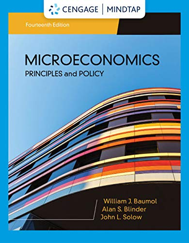 MindTap for Baumol/Blinder/Solow's Microeconomics: Principles & Policy, 14th Edition [Online Code] by Cengage Learning