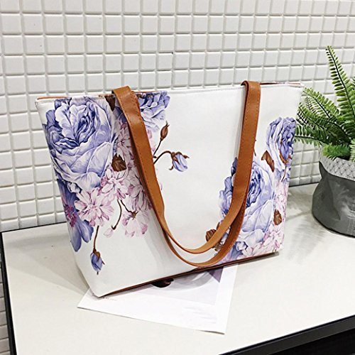 Bag Vintage Bags Fashion Purse Ladies Messenger Satchels Floral Handbag Sale Leather Crossbody Tote Casual Bag Top Bag Zipper PU Shoulder Purple Bags Clearance Soft Hanle Halijack Women nwqxXnPYR