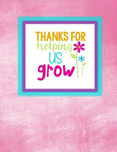 Teacher Thank You - Thanks For Helping Us Grow: Teacher Notebook - Journal or Planner for Teacher Gift: Great for Teacher Appreciation/Thank You/Retirement/Year End Gift - Pink Chalkboard - Mug Caterpillar