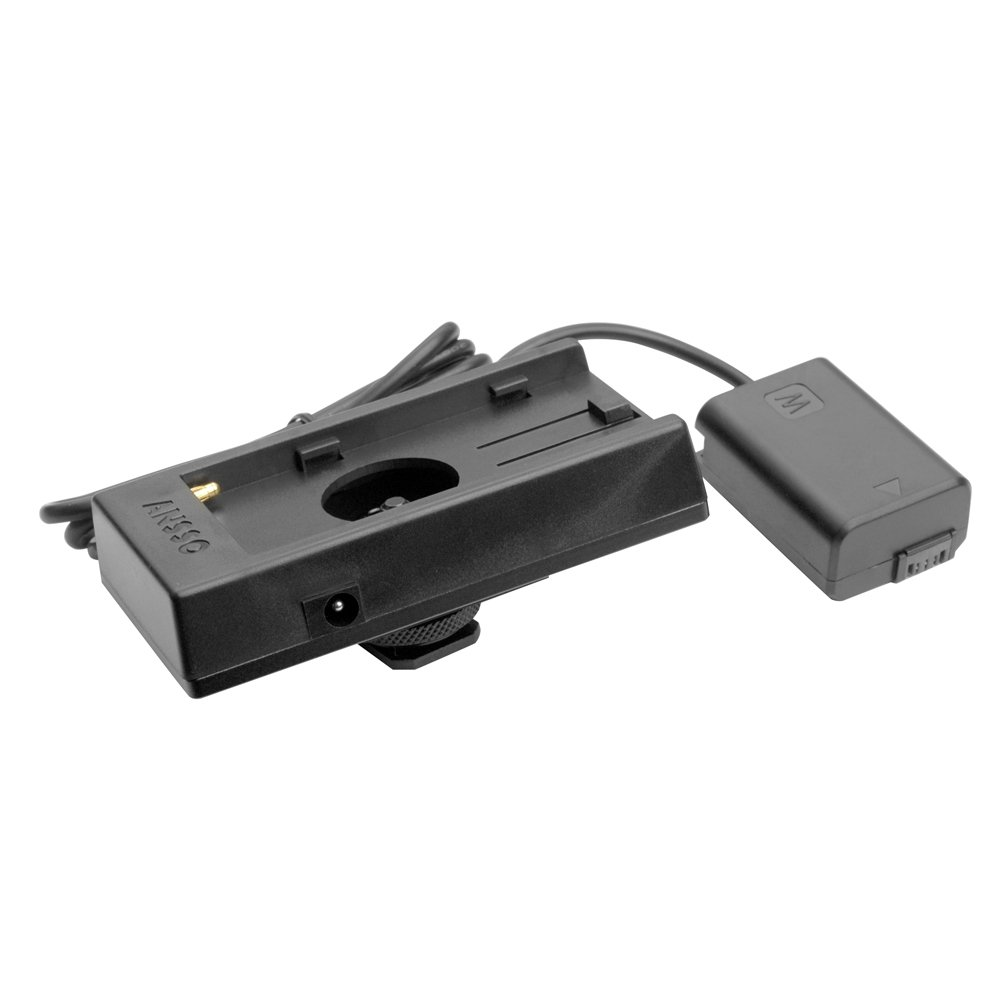 Battery Adapter Mount Plate Power Supply F970 to FW50 for Sony A6300 A5100
