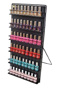 Nail Polish Rack 6 Tier Black (Free Standing or Wall Mount)Expedited shipping now subsidised on all orders.