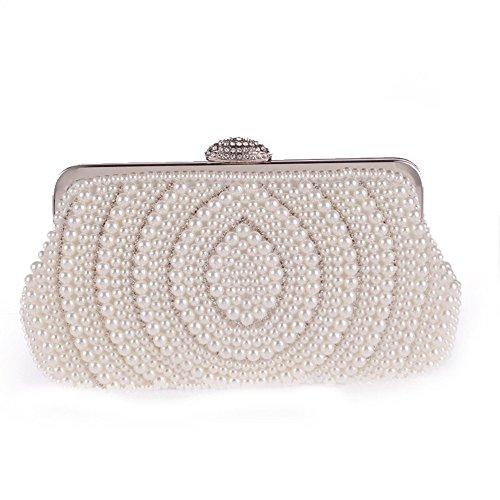 Bolso de embrague para mujer clutch Weiß
