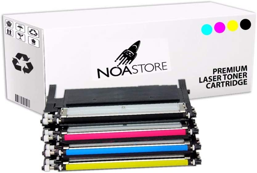 Noa Store Compatible Toner Cartridge Replacement for Samsung C410W( Black, Cyan, Yellow, Magenta , 4 pk )