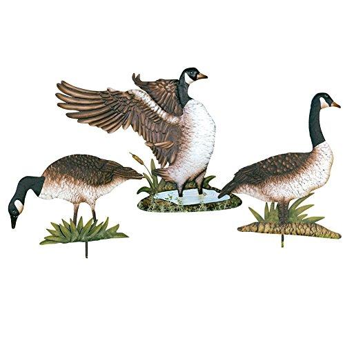 Metal Geese Yard Stakes - Set Of 3, Brown - Buy Online in ...