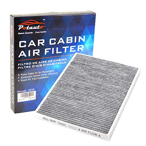 Fiesta Air Cleaner - POTAUTO MAP 1042C (CF11670) Replacement Activated Carbon Car Cabin Air Filter for FORD, Ecosport, Fiesta (Upgraded with Active Carbon)