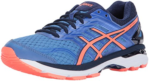 ASICS Womens GT-2000 5 Running Shoe, Regatta Flash Coral/Indigo Blue, 8 Medium US