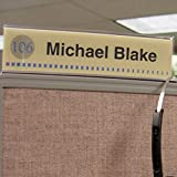 Cubicle X-Ray Vision 8'' X 2'' Double-Sided Office Cubicle Nameplate Sign Frame (Pack of 12)